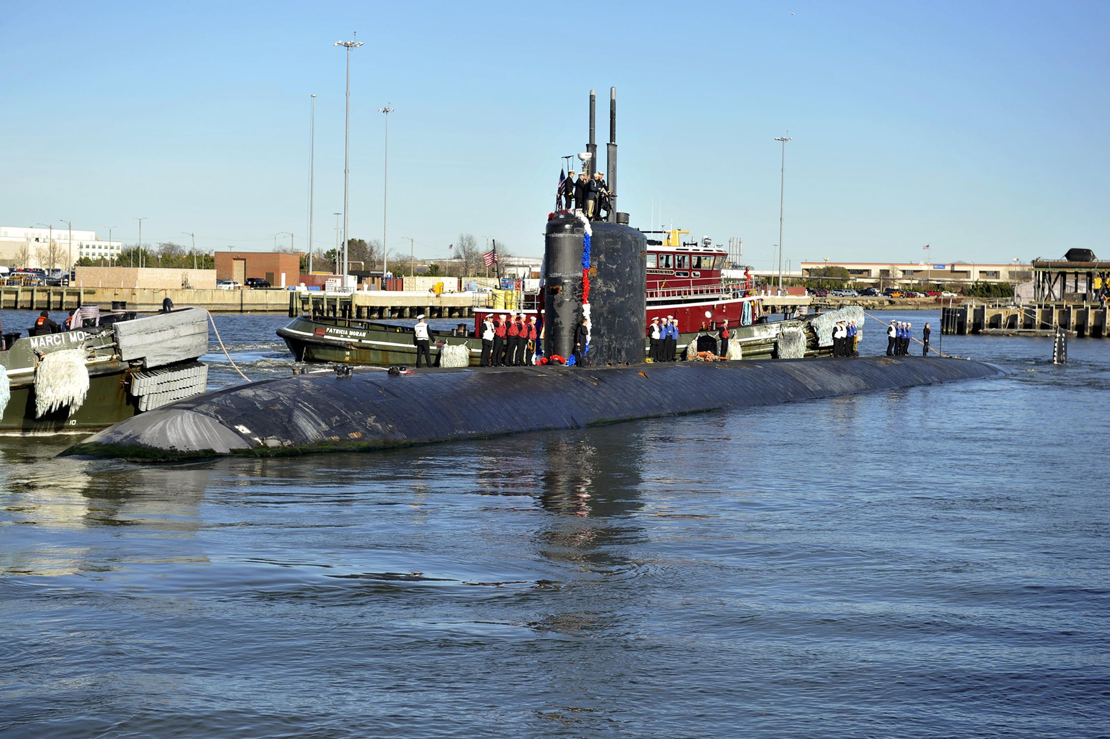 USS SRANTON SSN-756 Einlaufen Norfolk am 13.01.2014 Bild: U.S. Navy