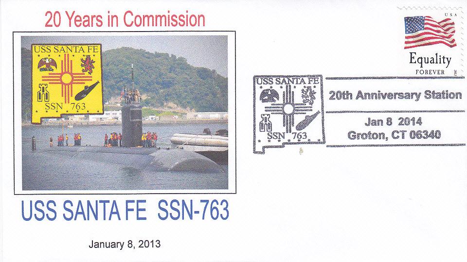 Beleg USS SANTA FE SSN-763 20 Jahre im Dienst