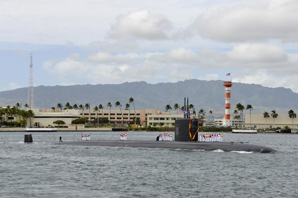 USS SANTA FE SSN-763 Einlaufen Pearl Harbor 28.01.2014 Bild: U.S. Navy