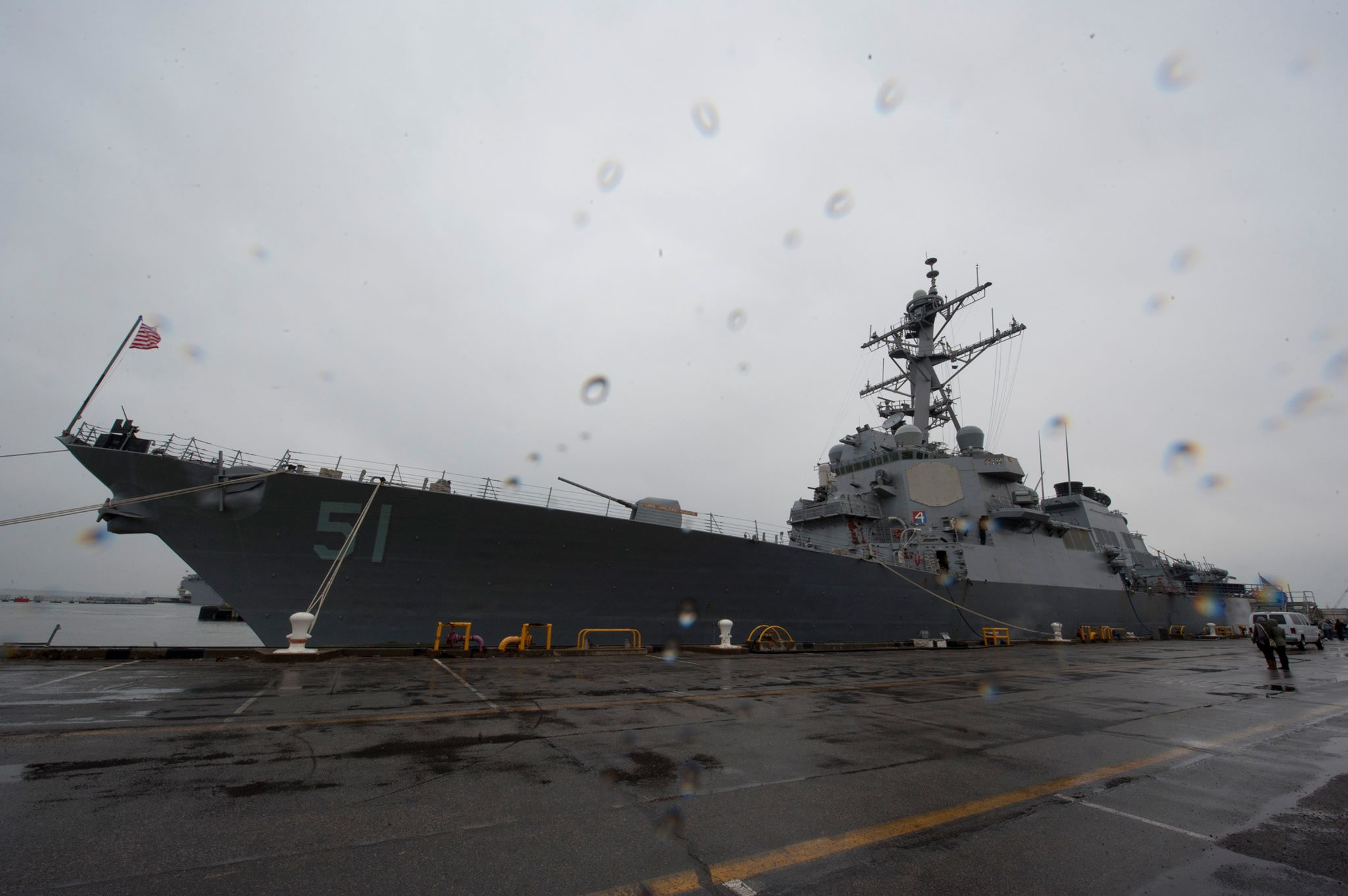 USS ARLEIGH BURKE DDG-51 am 15.02.2014 in Norfolk Bild: USS ARLEIGH BURKE Facebook page