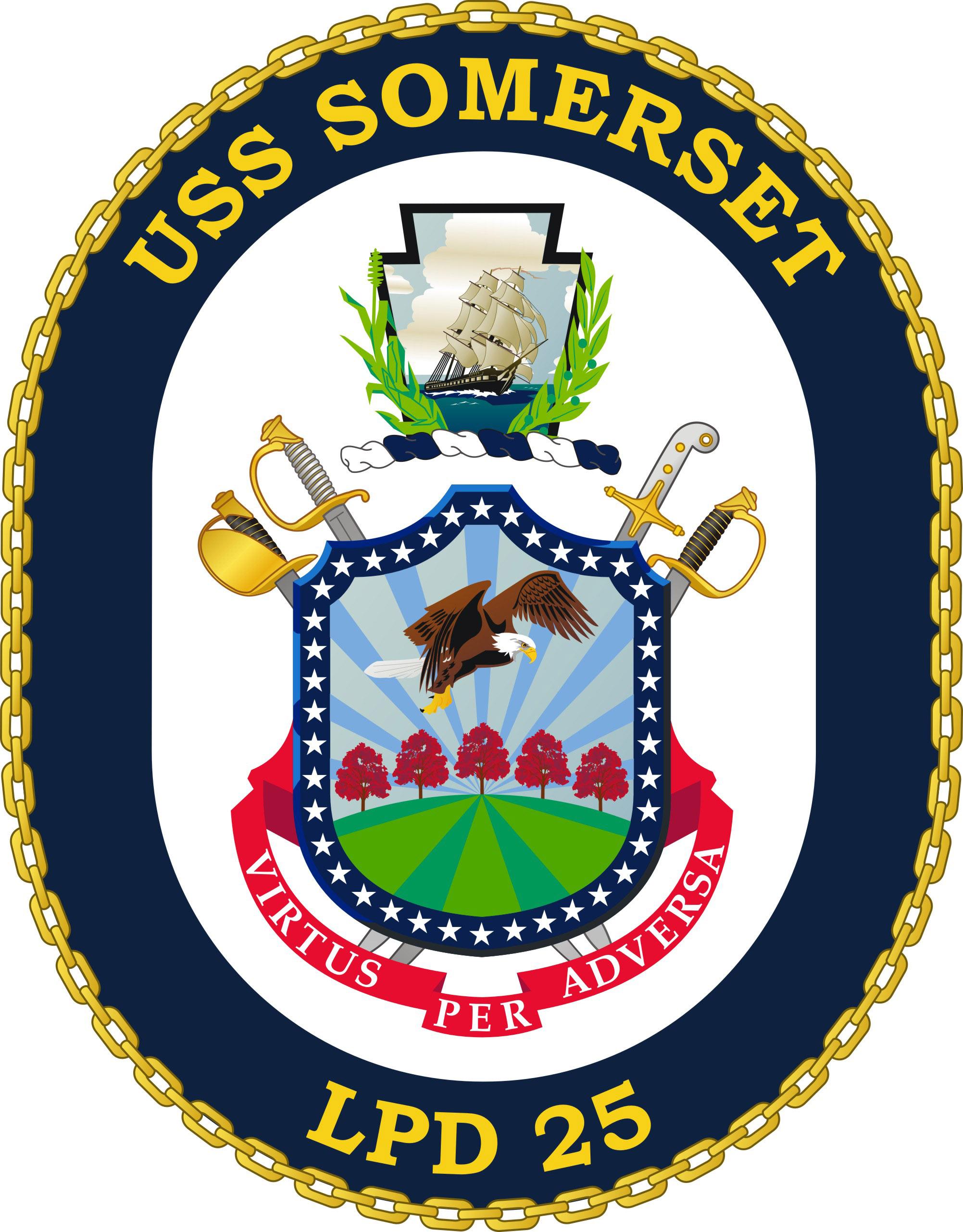 USS SOMERSET LPD-25 Crest Grafik: U.S. Navy