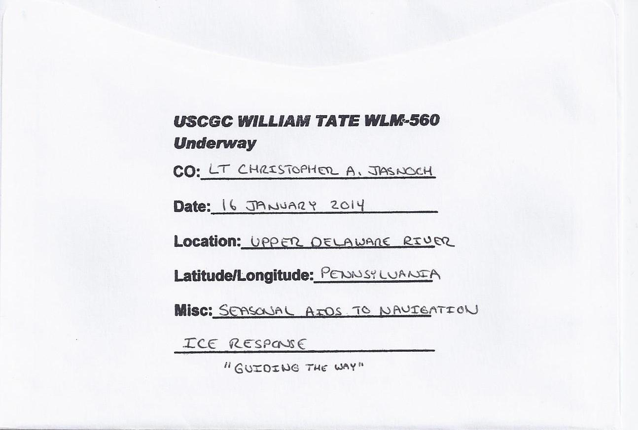 Beleg USCGC WILLIAM TATE WLM-560 Rücksiete von Christian Seonbuchner