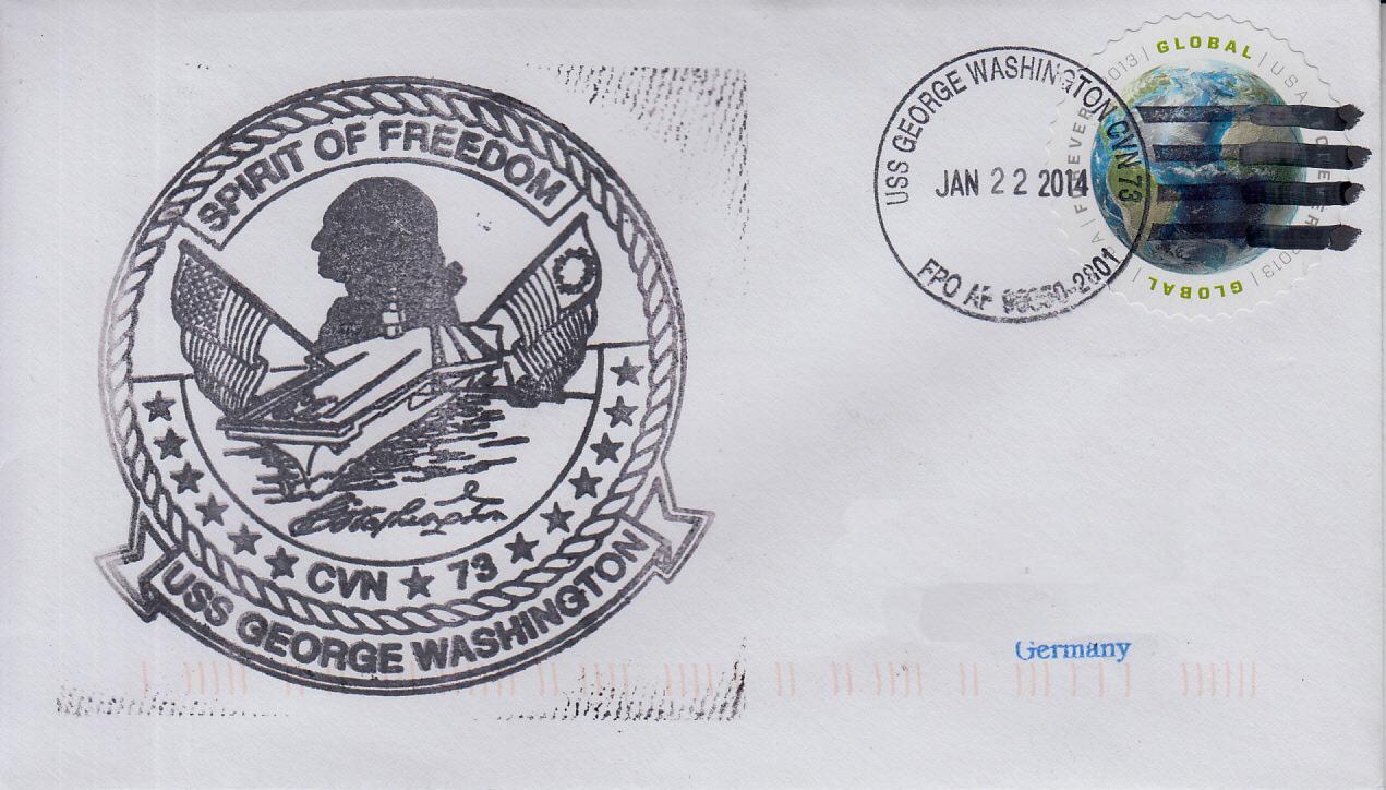 Beleg USS GEORGE WASHINGTON CVN-73 von Karl Friedrich Weyland