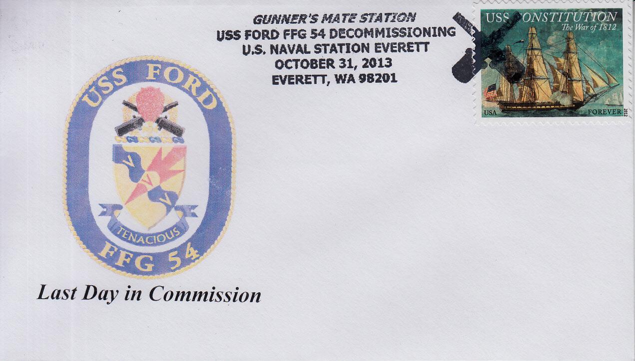 Beleg USS FORD FFG-54 Außerdienststellung von Karl Friedrich Weyland
