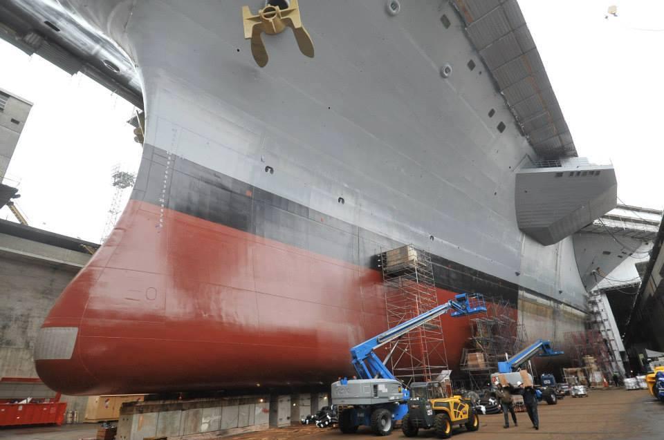 USS JOHN C. STENNIS CVN-74 im Trockendock Puget Sound Naval Shipyard Bild: USCS Facebook page, Tom Armstrong