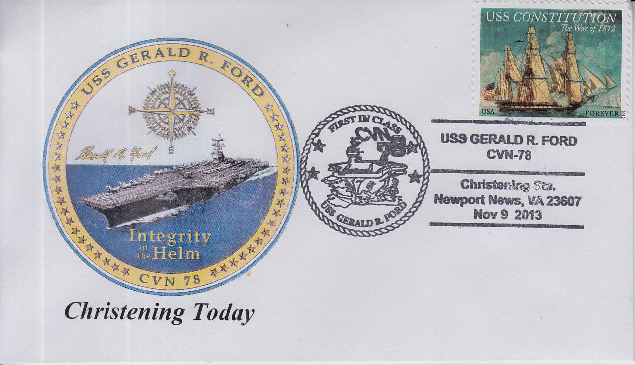 Beleg USS GERALD R. FORD CVN-78 Christening von Karl Friedrich Weyland