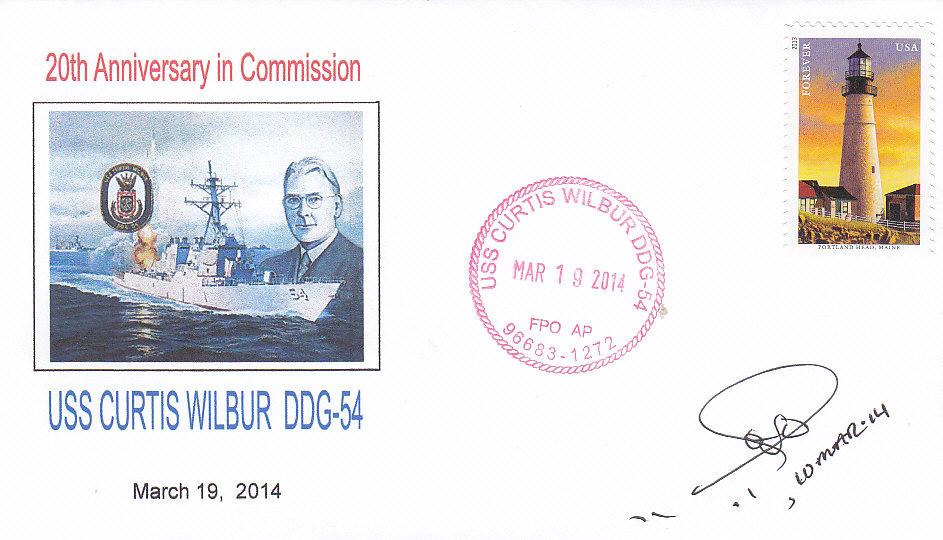 Beleg USS CURTIS WILBUR DDG-54 20 Jahre im Dienst