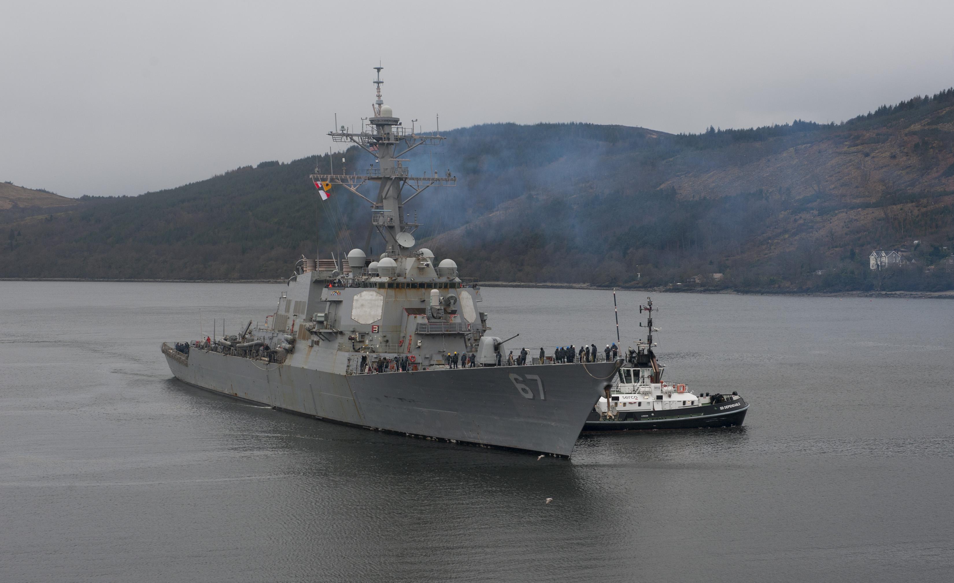 USS COLE DDG-67 in Faslane, Schottland 28.03.2014 Bild: U.S. Navy