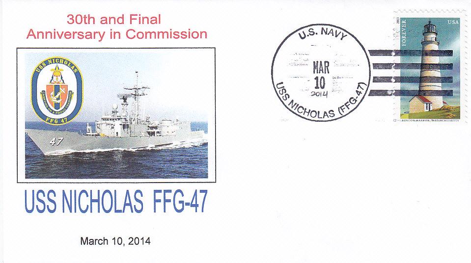 Beleg USS NICHOLAS FFG-47  30 Jahre im Dienst