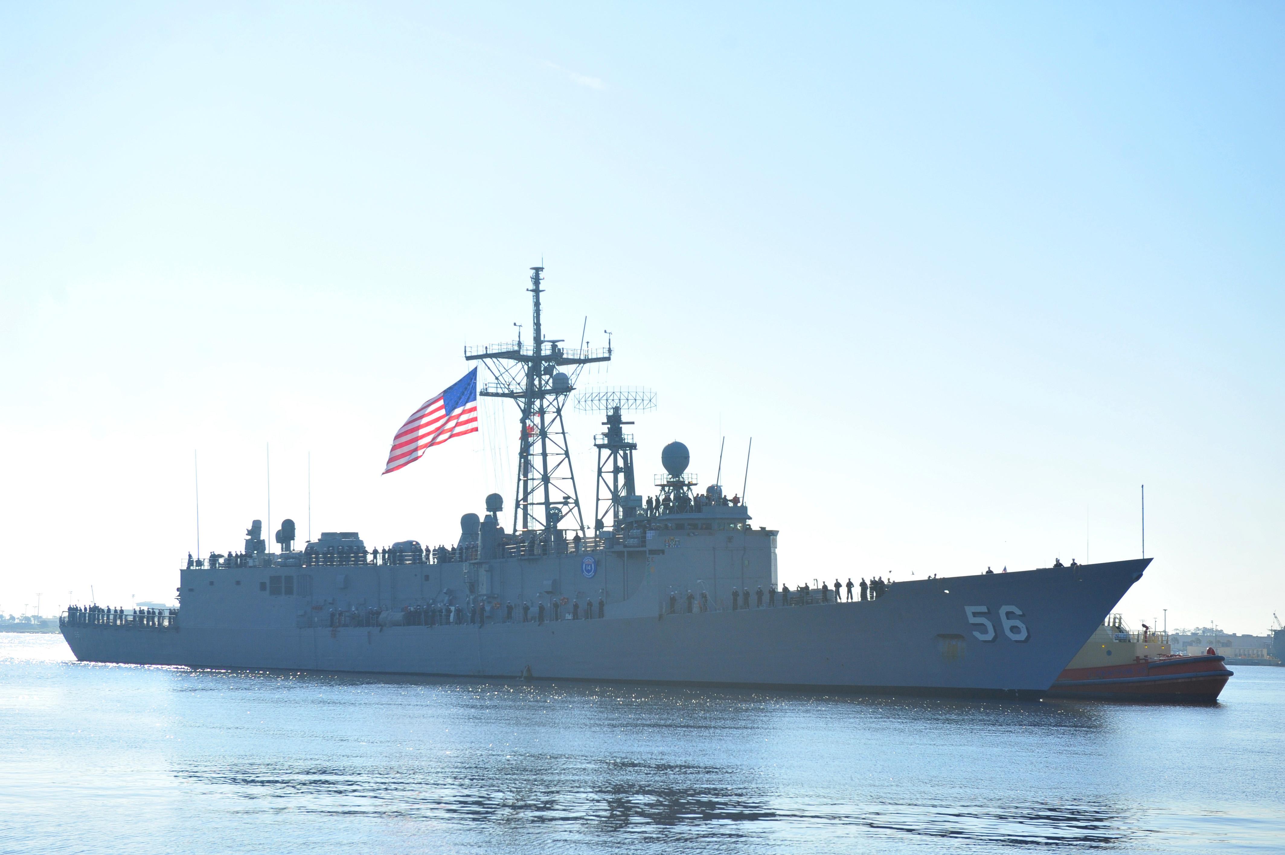 USS SIMPSON FFG-56 Einlaufen Mayport am 20.03.2014 Bild: U.S. Navy