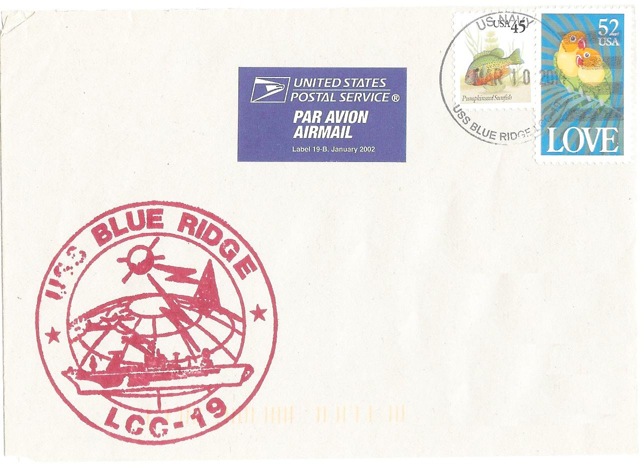 Beleg USS BLUE RIDGE LCC-19 von Gabriel Hartberger