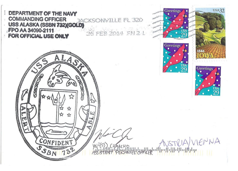 Beleg USS ALASKA SSBN-732 vom 25.02.2014 von Gabriel Hartberger