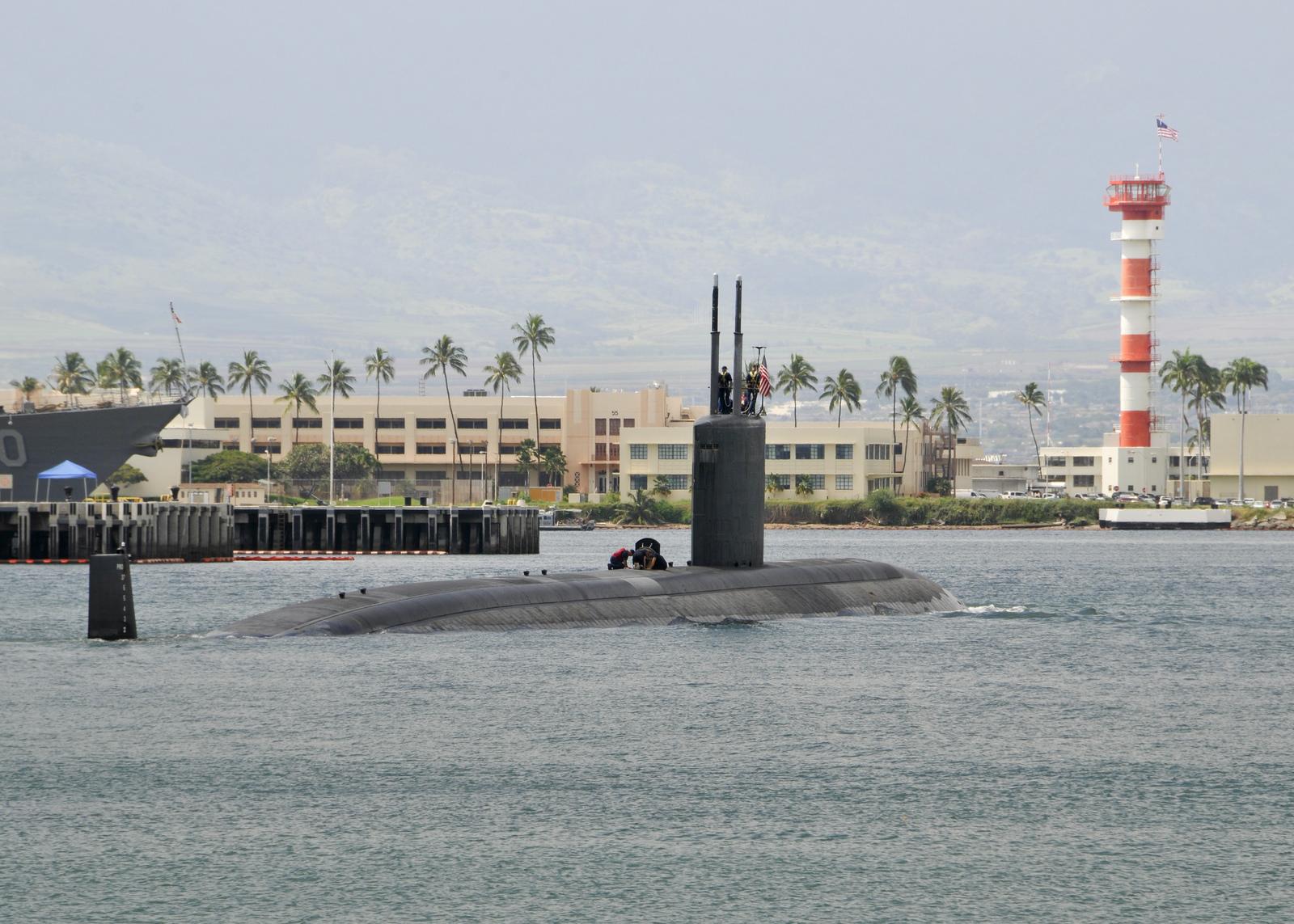 USS COLUMBUS SSN-762 Auslaufen Pearl Harbor am 19.02.2014 Bild: U.S. Navy