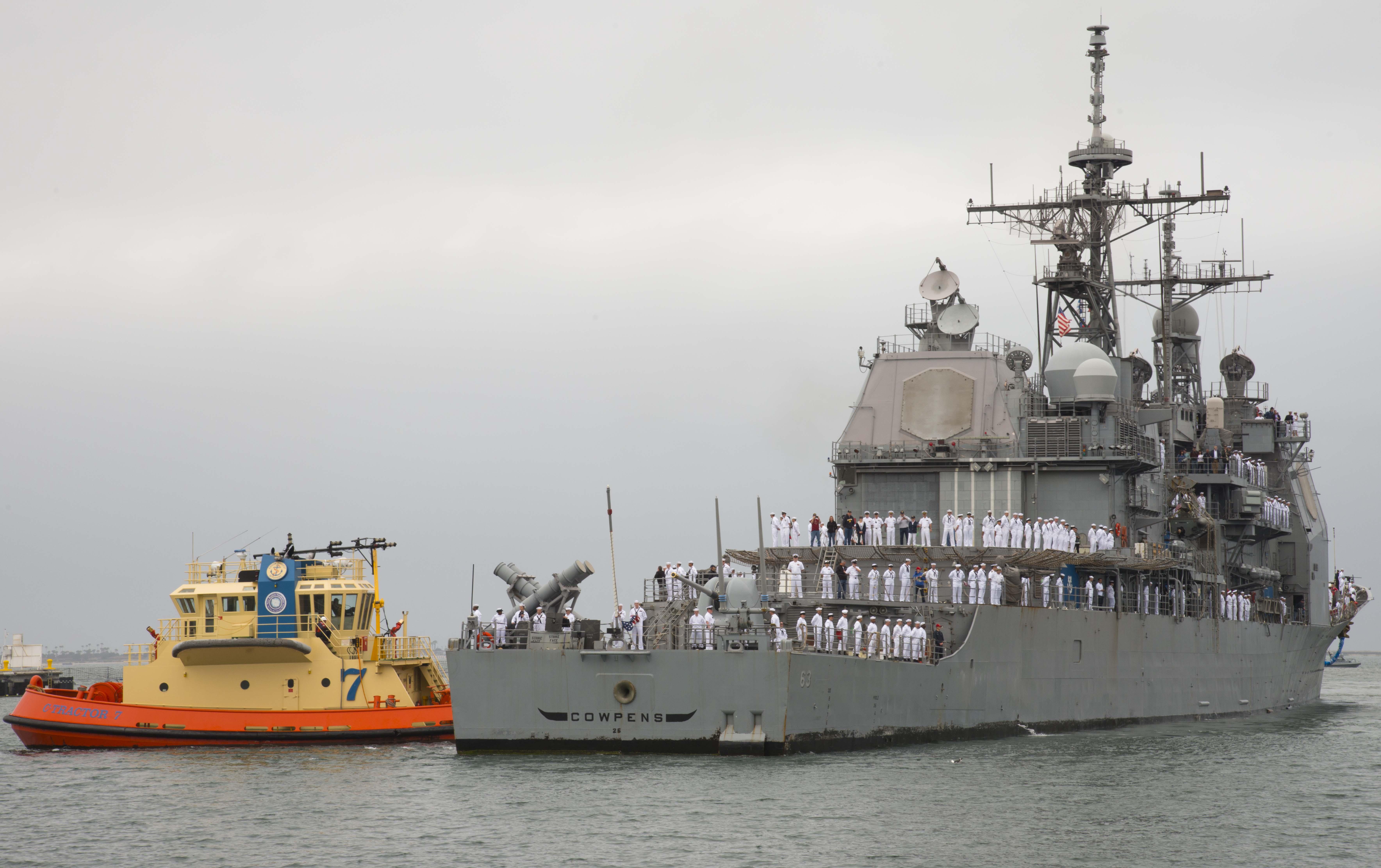 USS COWPENS CG-63 Einlaufen San Diego am 17.04.2014 Bild: U.S. Navy