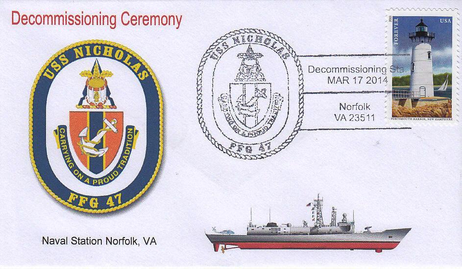 Beleg USS NICHOLAS FFG-47 Decommissioning NorVa
