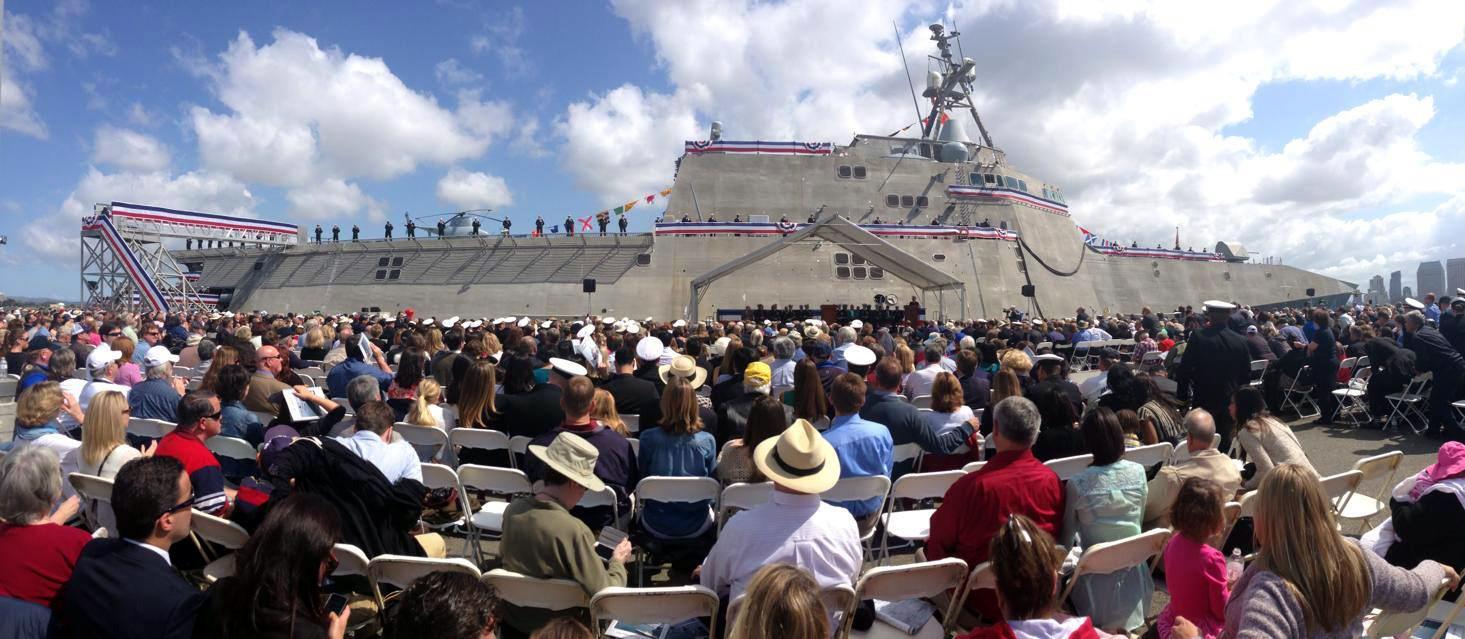USS CORONADO LCS-4 Indienststellung Bild: U.S. Navy