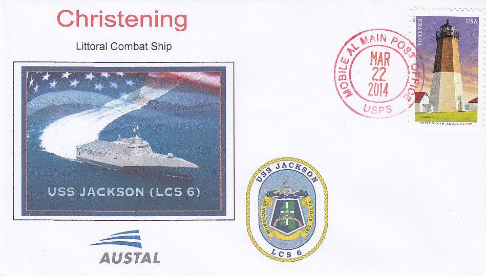 Beleg USS JACKSON LCS-6 Christening
