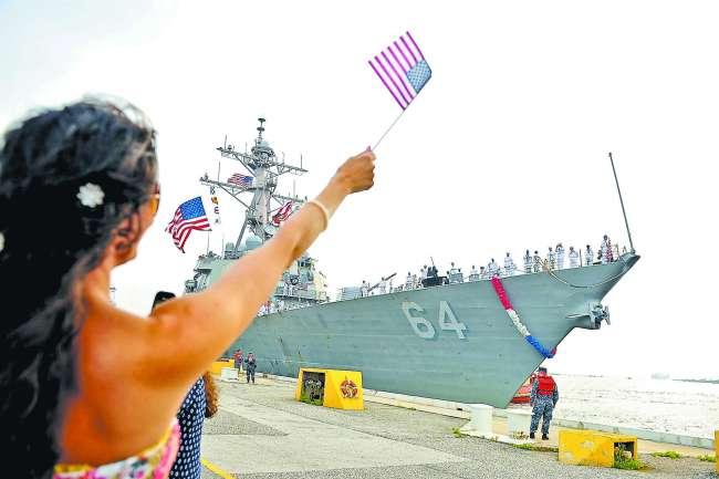 USS CARNEY DDG-64 Einlaufen Mayport 25.05.2014 Bild: U.S. Navy