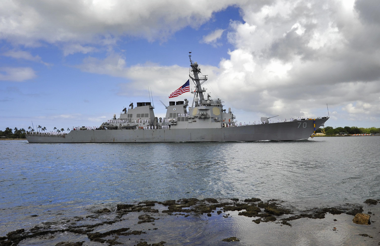 USS HOPPER DDG-70 Einlaufen Pearl Harbor am 06.05.2014 Bild: U.S. Navy