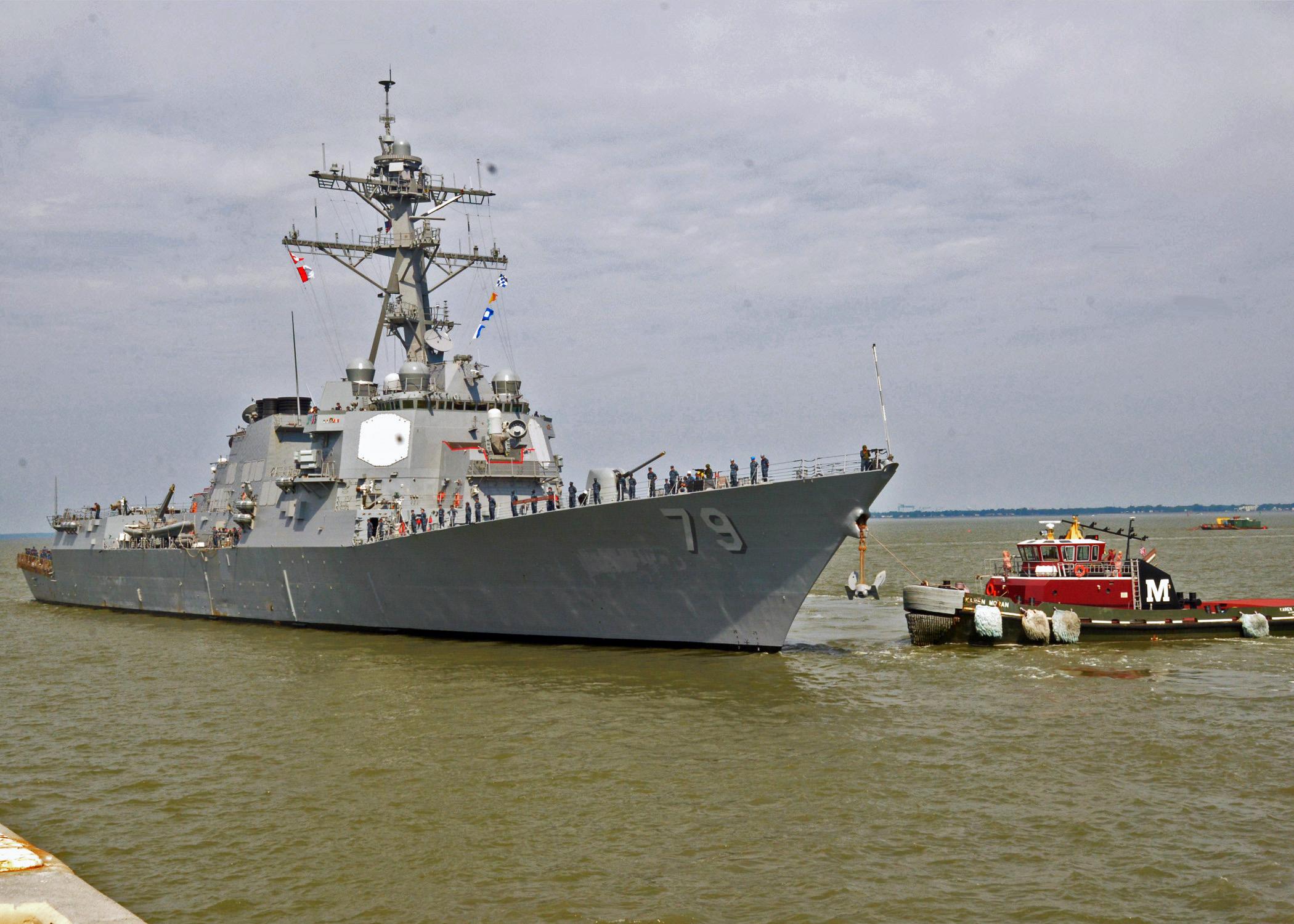 USS OSCAR AUSTIN DDG-79 Auslaufen Norfolk am 20.05.2014 Bild: U.S. Navy