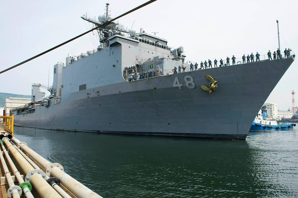 USS ASHLAND LSD-48 Auslaufen Sasebo 09.05.2014 Bild: U.S. Navy