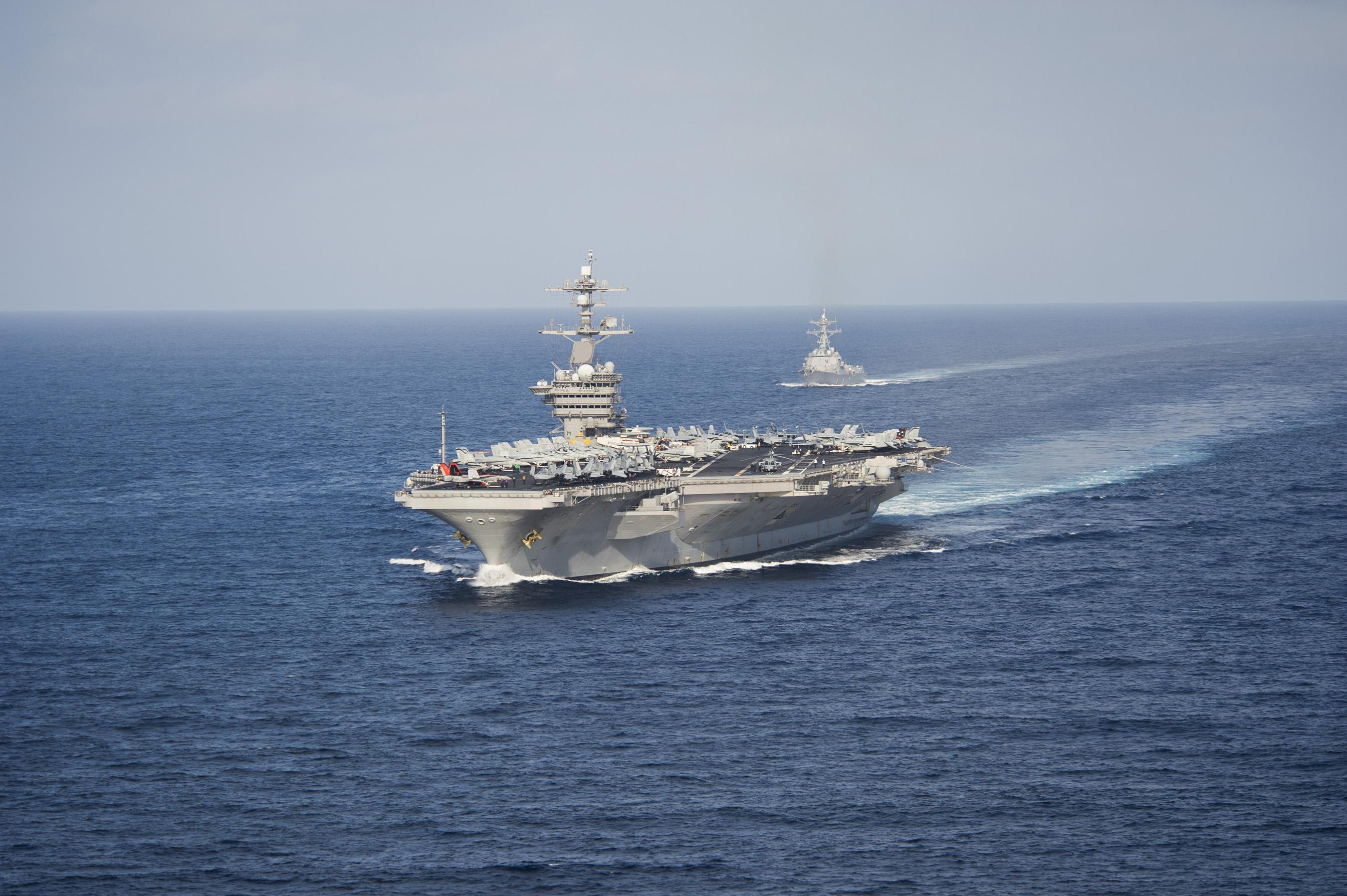 USS CARL VINSON CVN-70 am 23.05.2014 im Pazifik Bild: U.S. Navy