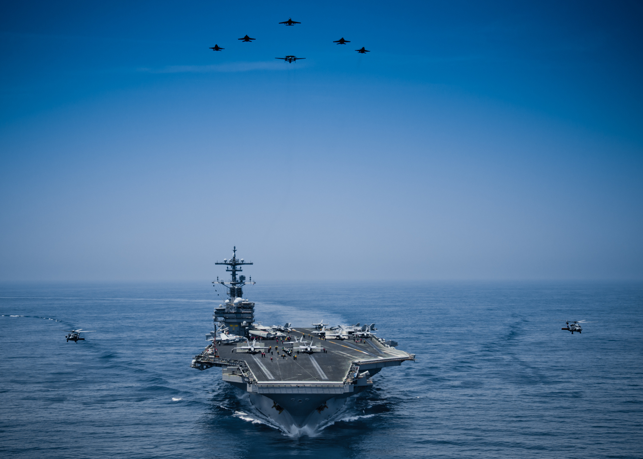 USS GEORGE H.W. BUSH CVN-77 am 29.04.2014 im Arabischen Meer Bild: U.S. Navy