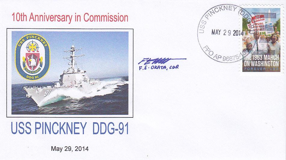 Beleg USS PINCKNEY DDG-91 10 Jahre im Dienst
