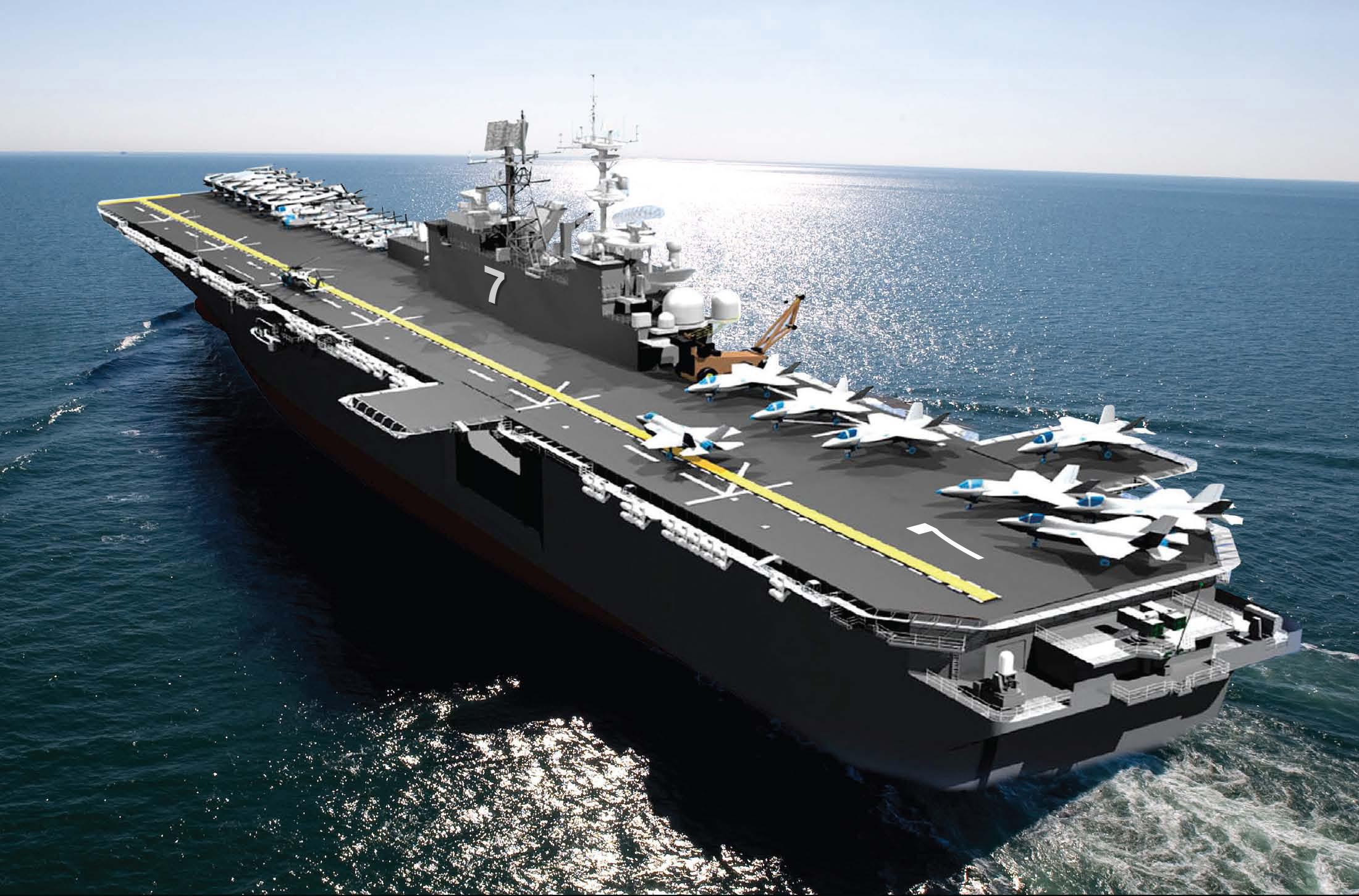 Graphische Darstellung USS TRIPOLI LHA-7 Grafik: U.S. Navy