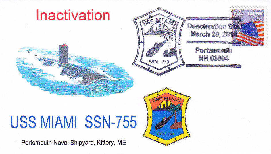 Sonderumschlag USS MIAMI SSN-755 Inactivation