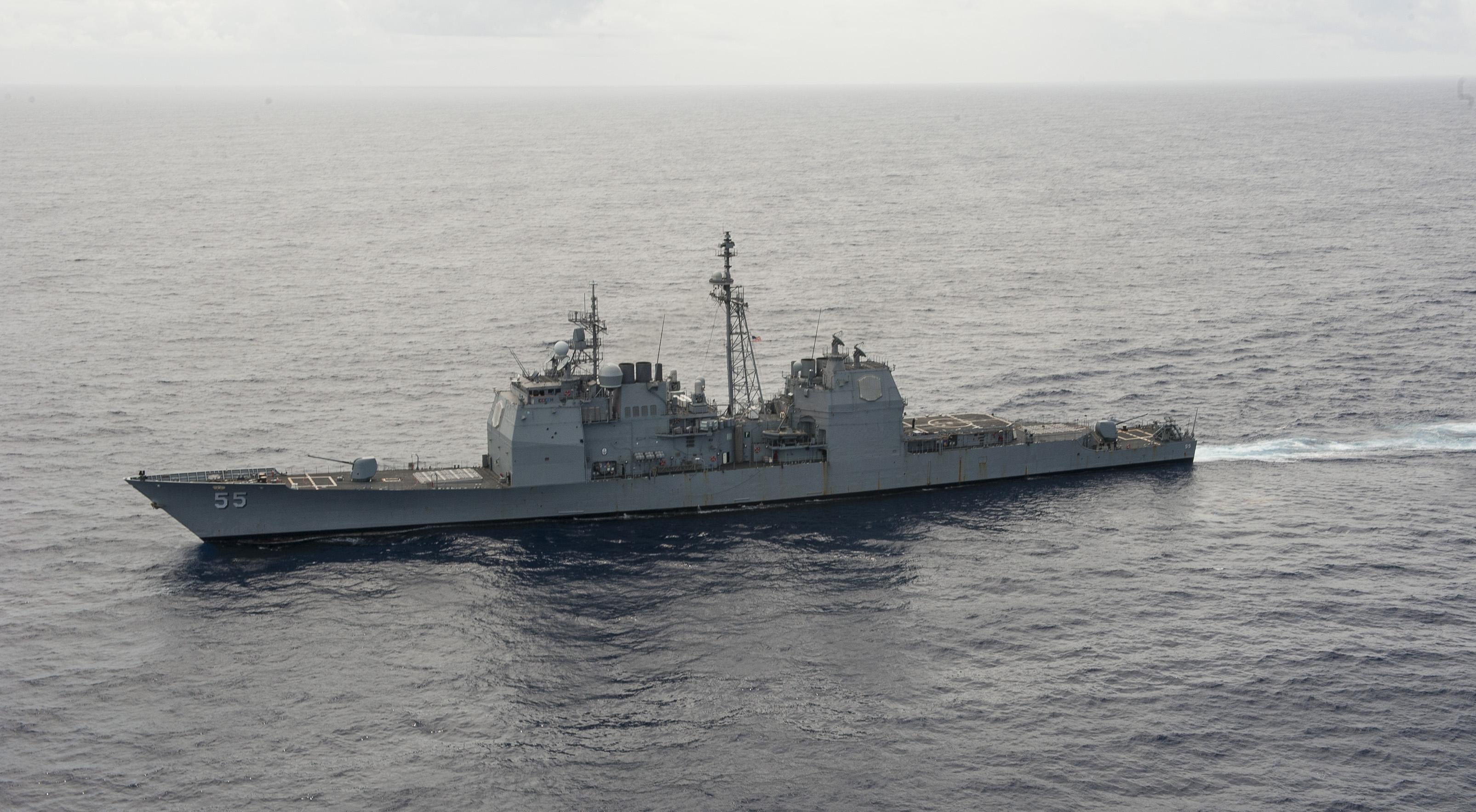 USS LEYTE GULF CG-55 im März 2014 im Atlantik Bild: U.S. Navy
