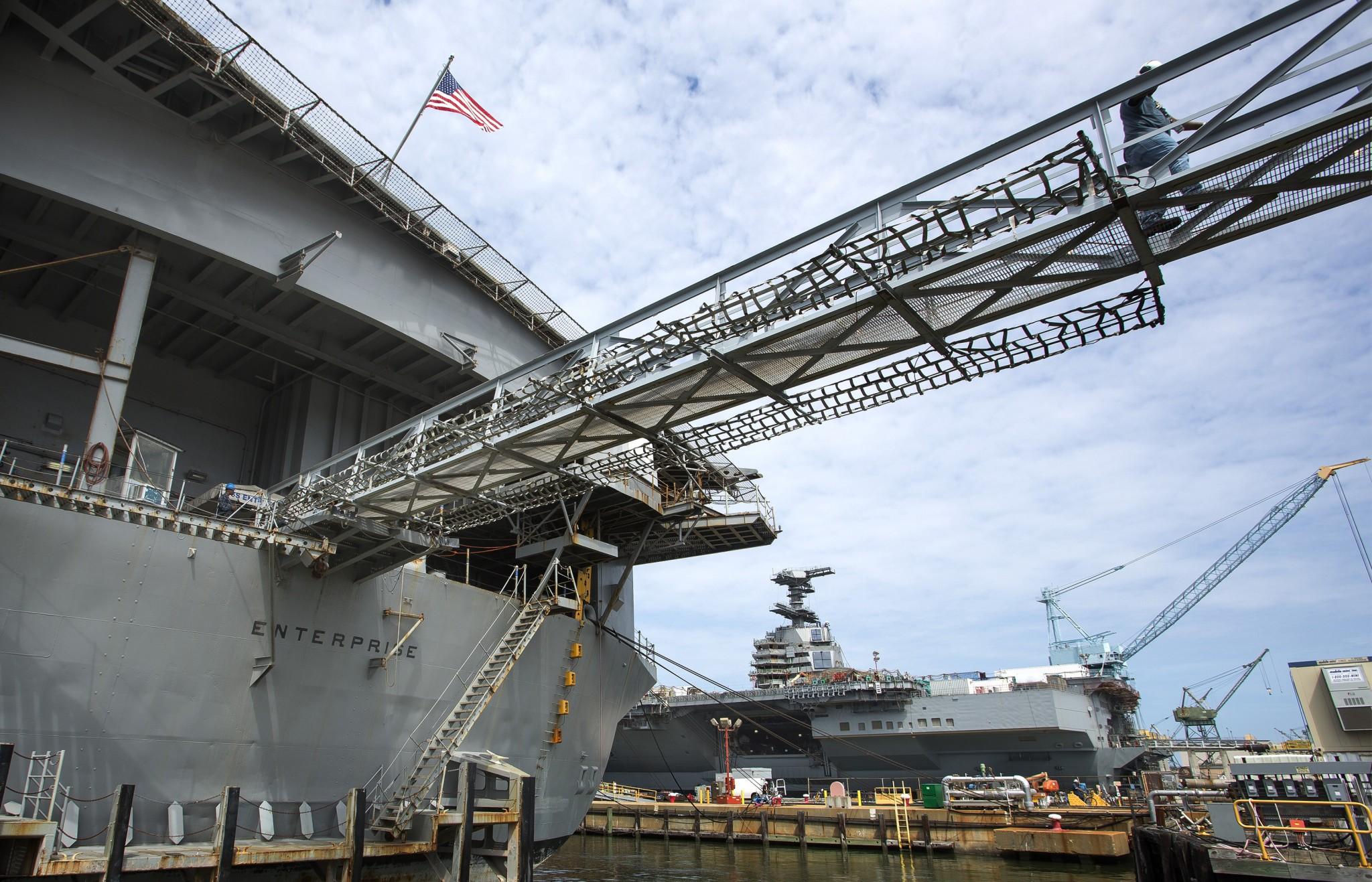 Flugzeugträger in Newport News Bild: Newport News Shipbuilding