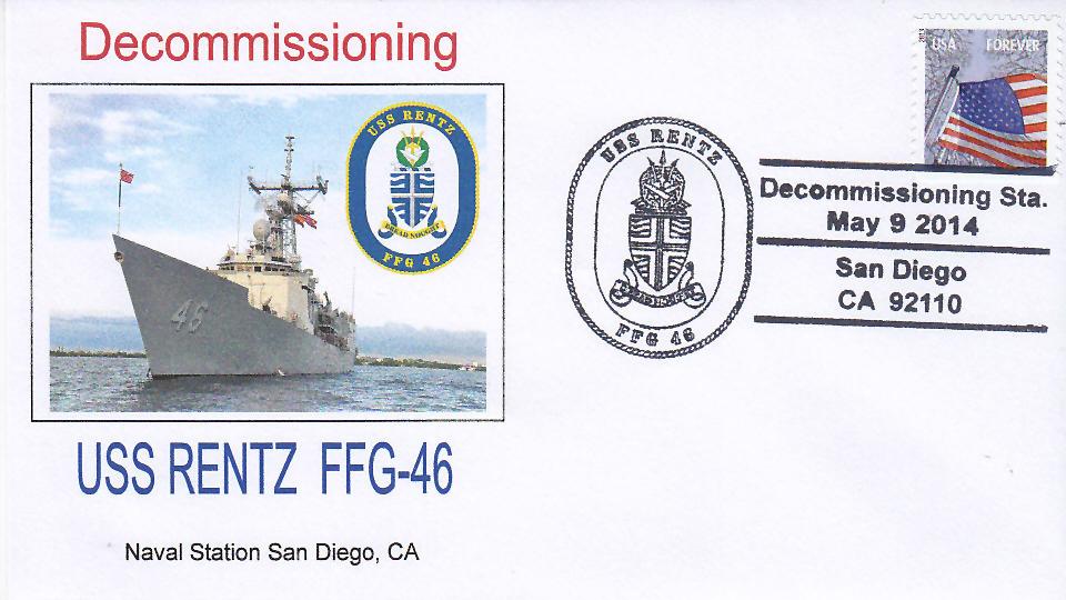Beleg USS RENTZ FFG-46 Außerdienststellung San Diego