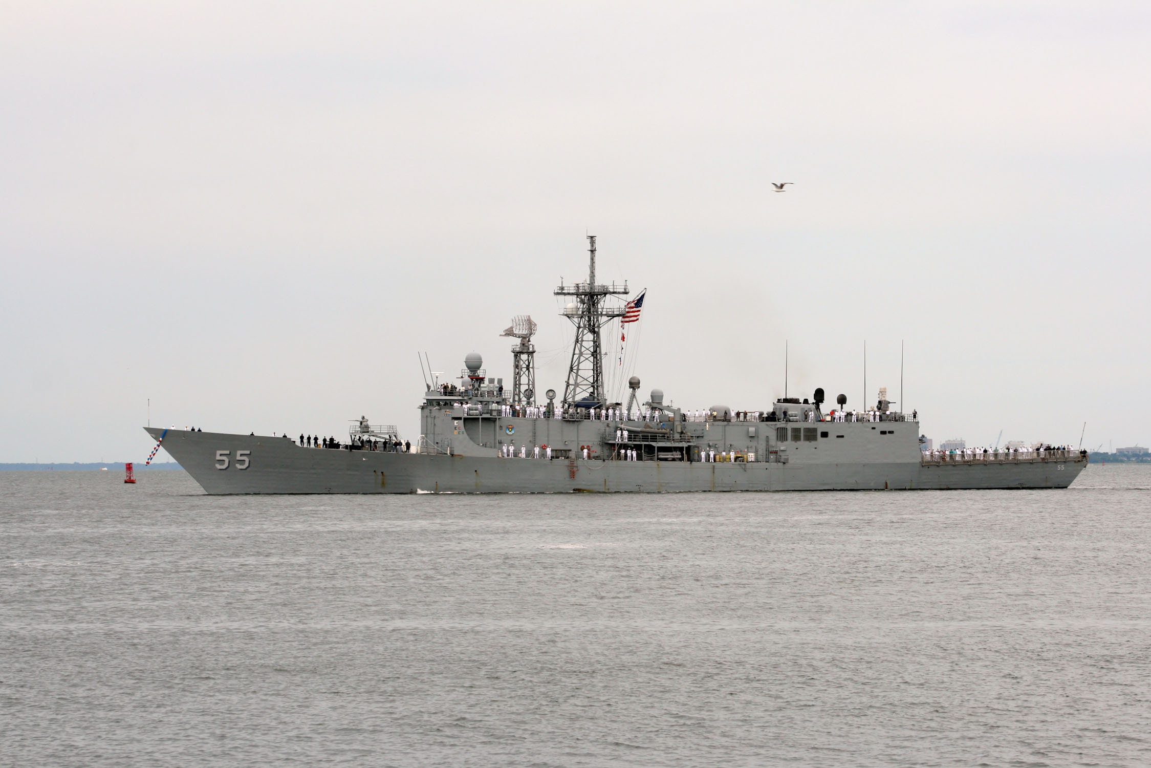 USS ELROD FFG-55 Einlaufen Norfolk am 19.07.2014 Bild: U.S. Navy