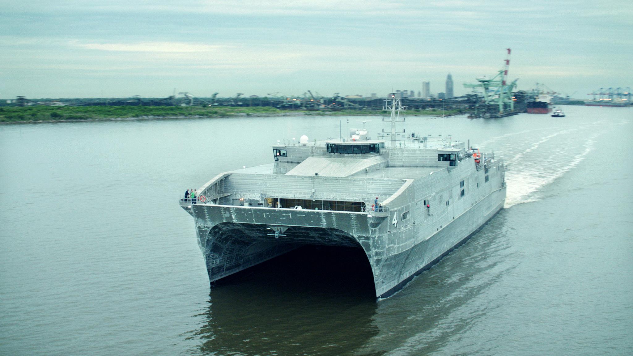 USNS FALL RIVER JHSV-4 See-Erprobung Bild: Austal USA
