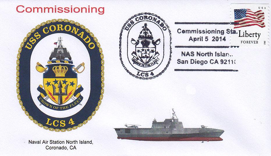 Beleg USS CORONADO LCS-4 Indienststellung San Diego