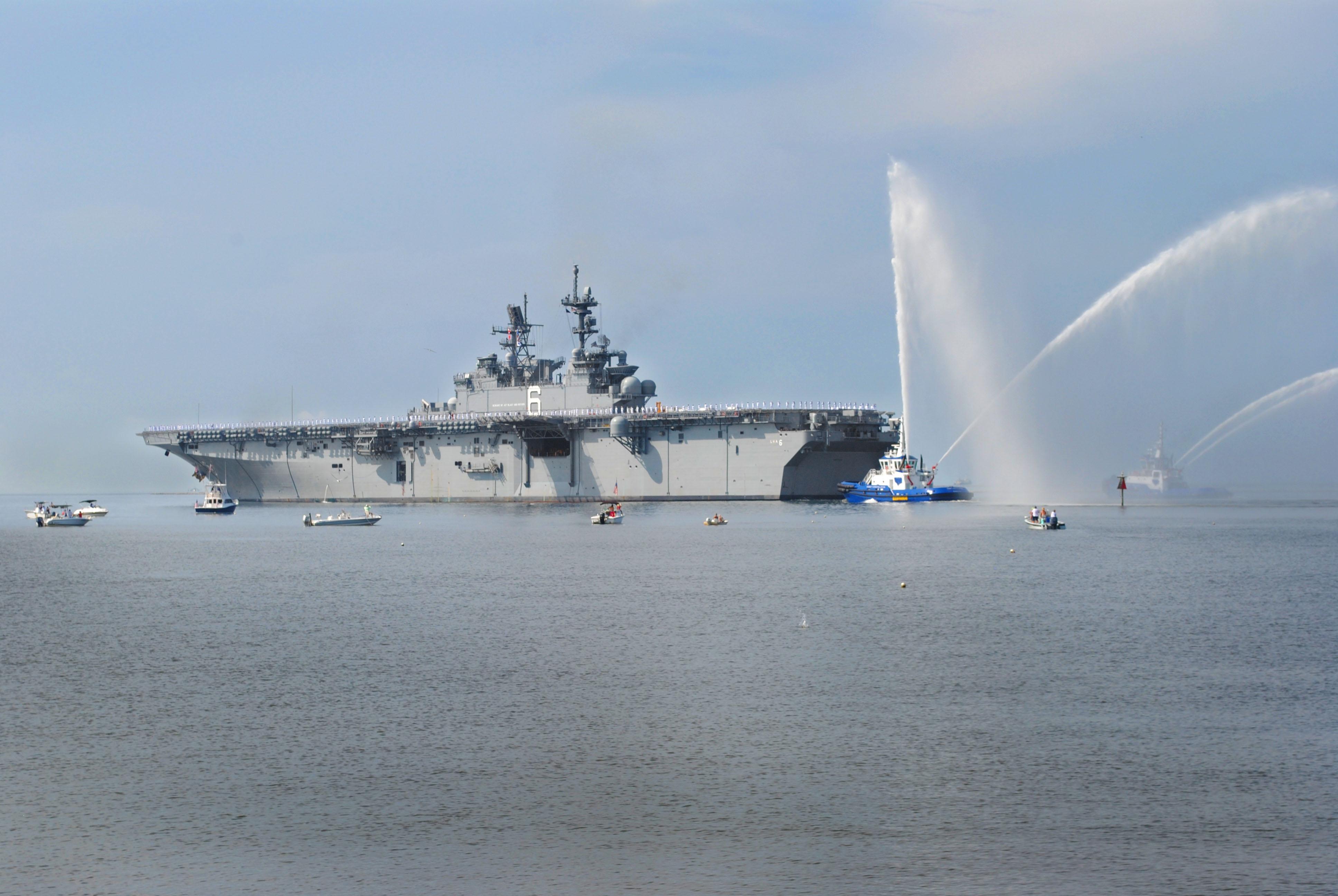 USS AMERICA LHA-6 Auslaufen Pascagoula am 11.07.2014 Bild: Huntington Ingalls Shipbuilding