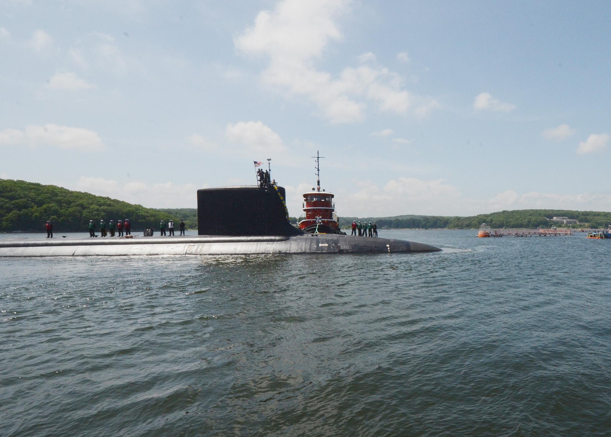 USS VIRGINIA SSN-774 Einlaufen Groton am 03.07.2014 Bild: U.S. Navy
