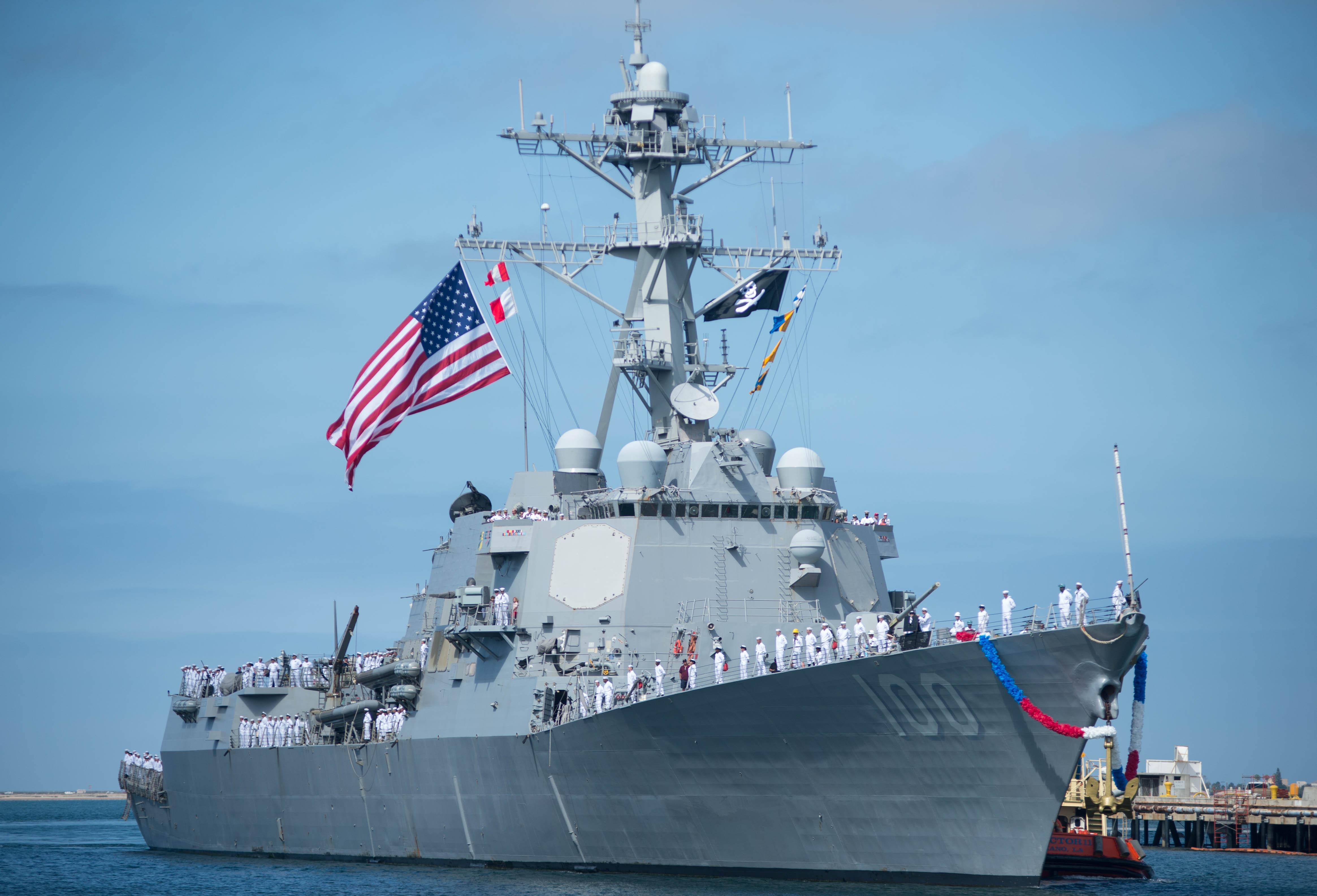 USS KIDD DDG-100 Einlaufen San Diego am 21.08.2014 Bild: U.S. Navy