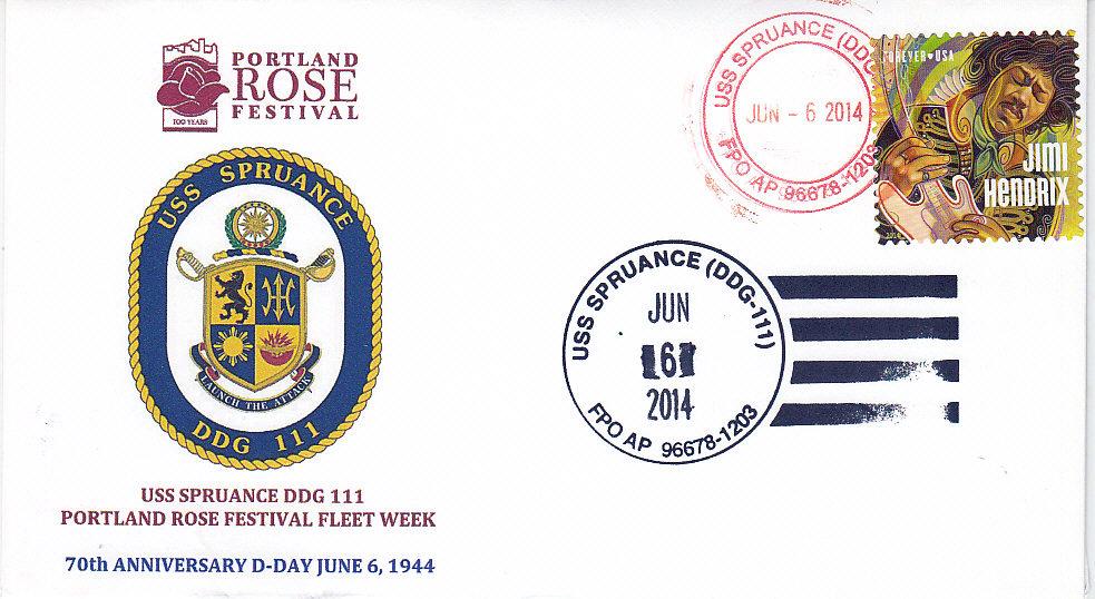Beleg USS SPRUANCE DDG-111 Portland Rose Festival von Mike Brock