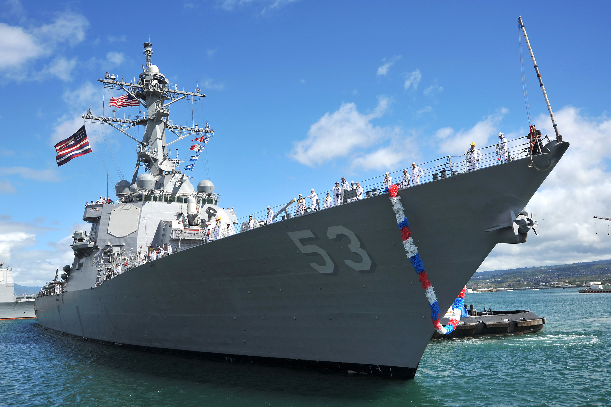 USS JOHN PAUL JONES DDG-53 Einlaufen Pearl Harbor am 15.08.2014 Bild: U.S. Navy