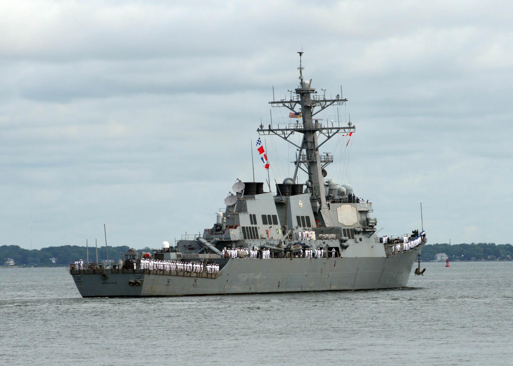 USS MAHAN DDG-72 Auslaufen Norfolk am 11.08.2014 Bild: U.S. Navy