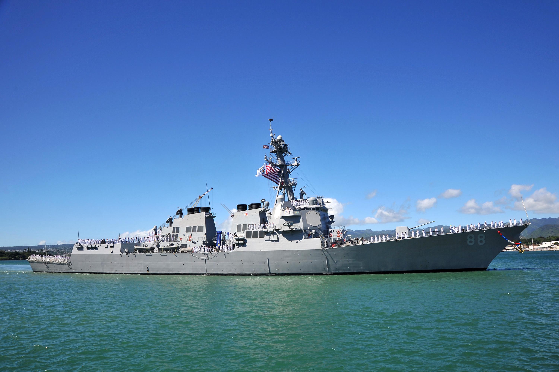USS PREBLE DDG-88 Einlaufen Pearl Harbor am 14.08.2014 Bild: U.S. Navy