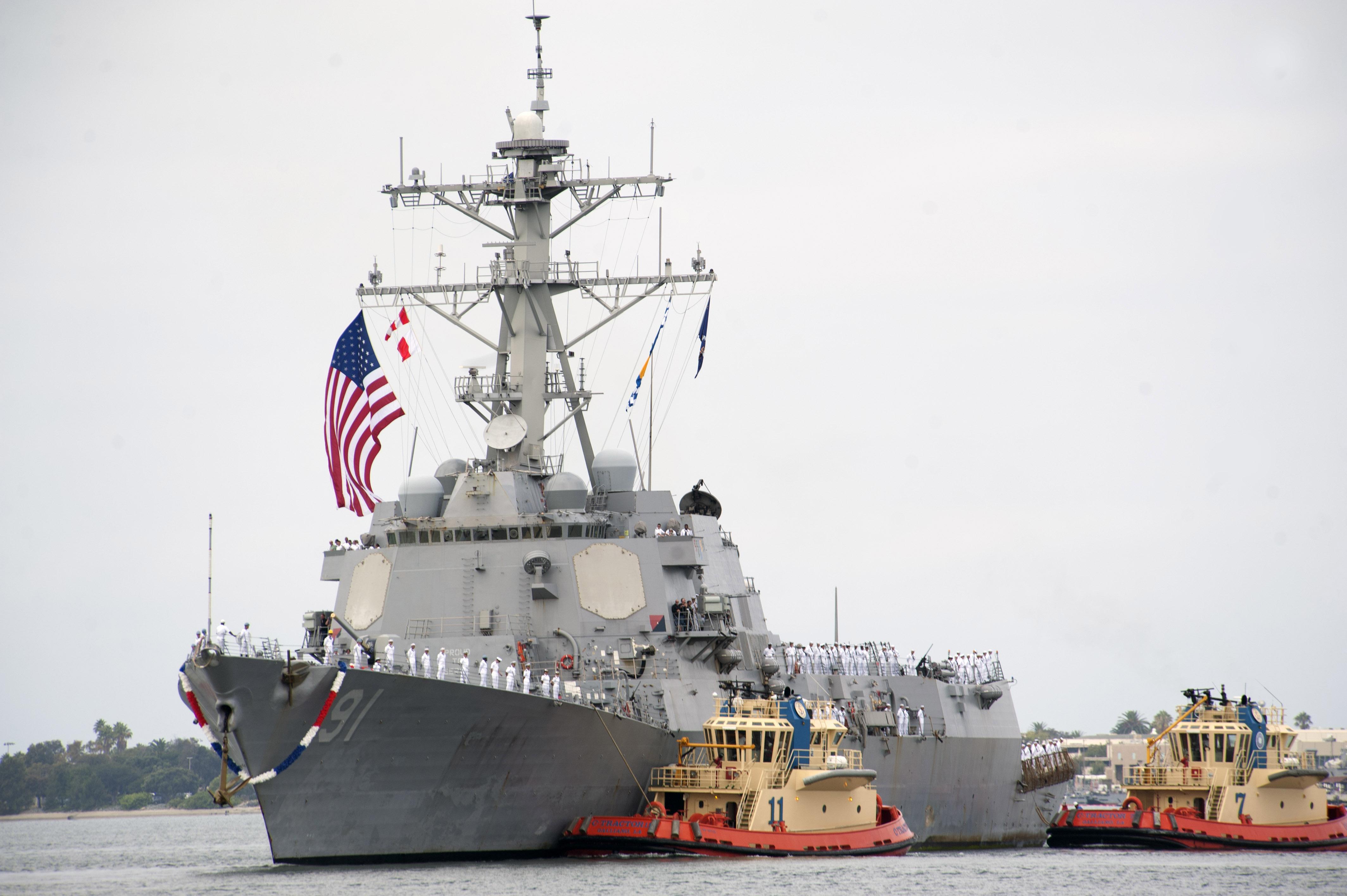 USS PINCKNEY DDG-91 Einlaufen San Diego am 21.08.2014 Bild: U.S. Navy