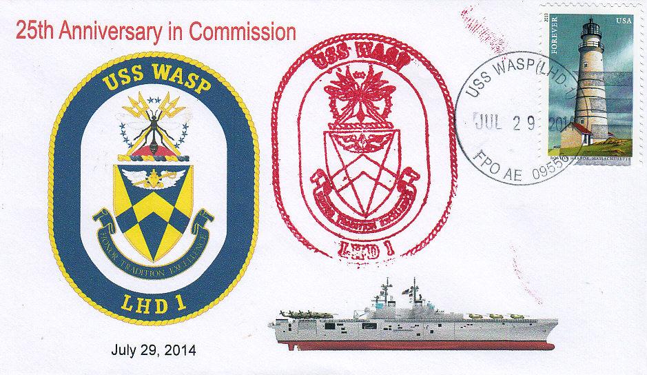 Beleg USS WASP LHD-1  25 Jahre im Dienst