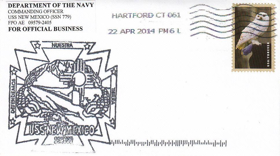 Beleg USS NEW MEXICO SSN-779 vom 22.04.2014 von Rich Hoffner