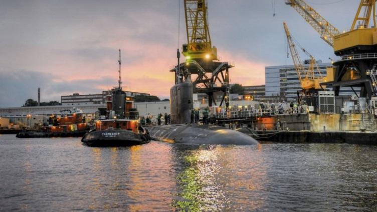 USS NORTH DAKOTA SSN-784 am Pier bei Electric Boat in Groton, CT Bild: General Dynamics, Electric Boat