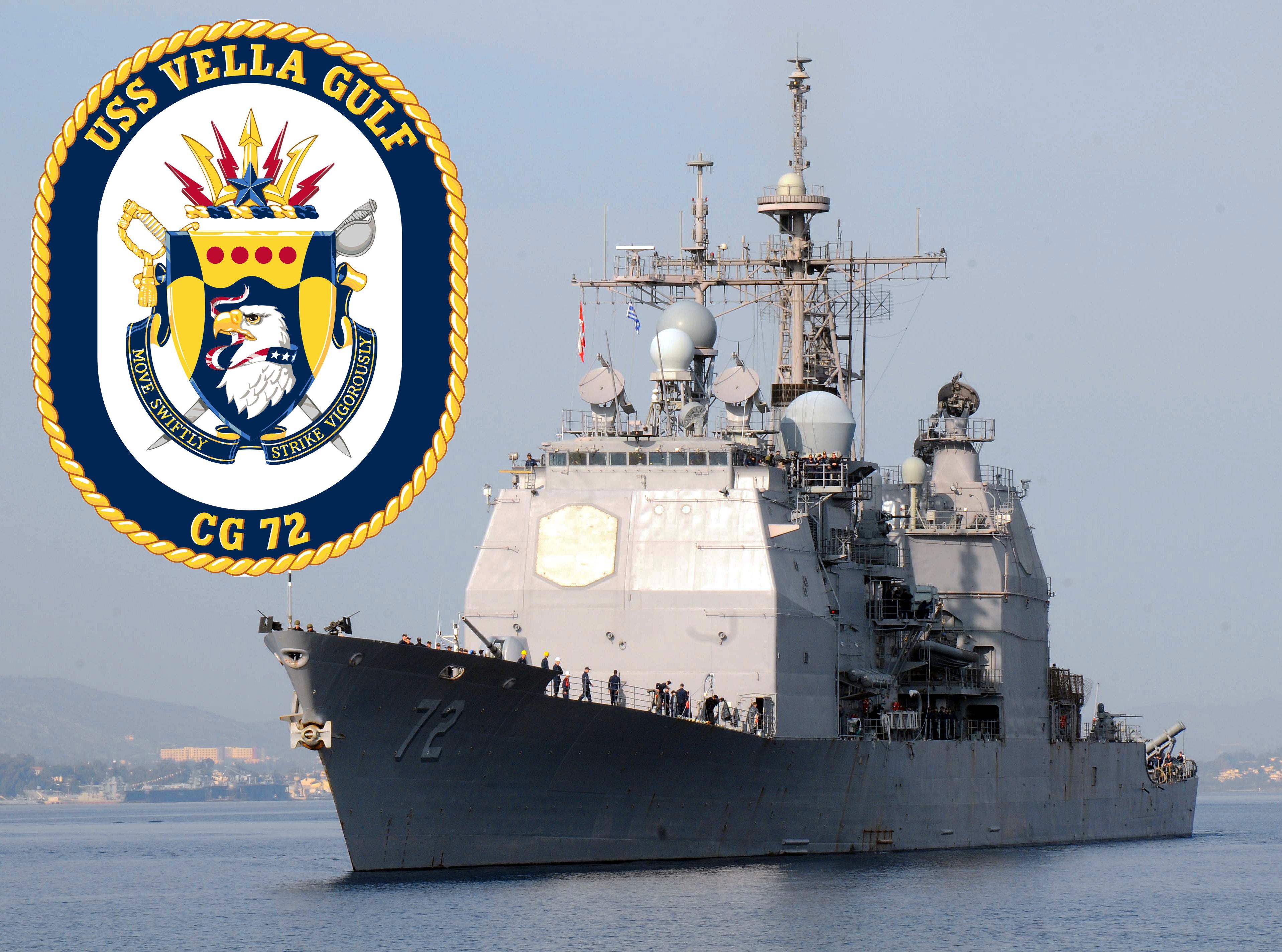 USS VELLA GULF CG-72 Bild und Grafik: U.S. Navy