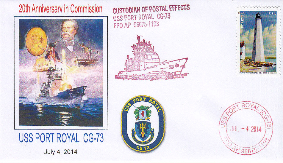 Beleg USS PORT ROYAL CG-73  20 Jahre im Dienst
