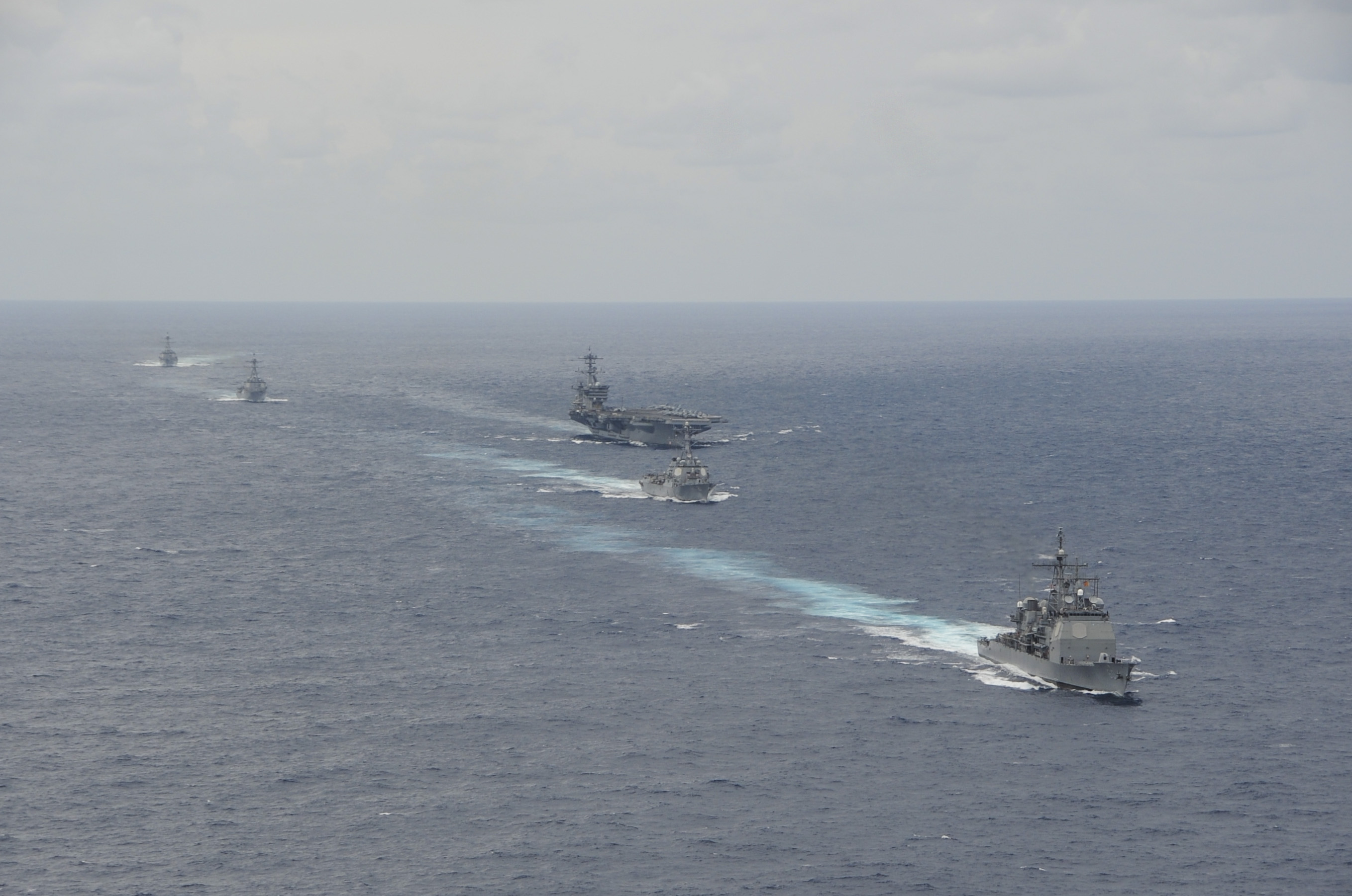 USS THEODORE ROOSEVELT CVN-71 Carrier Strike Group am 20.09.2014 im Atlantik Bild: U.S. Navy